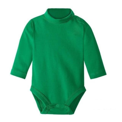 Multi Color Long Sleeve Infant Onesie - Green / 1-3 months
