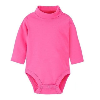 Multi Color Long Sleeve Infant Onesie - Hot Pink / 1-3 months