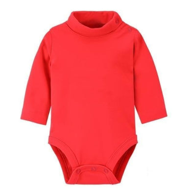 Multi Color Long Sleeve Infant Onesie - Red / 1-3 months