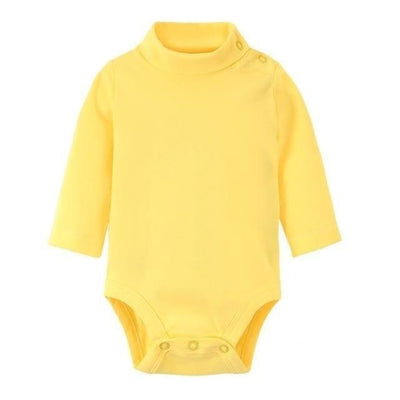 Multi Color Long Sleeve Infant Onesie - Yellow / 1-3 months