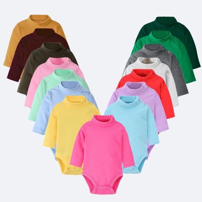 Multi Color Long Sleeve Infant Onesie