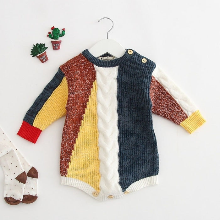 Multi Color Unisex Winter Sweater for Kids