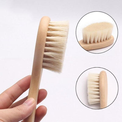 Natural Wool Comb Brush for Baby