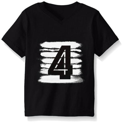 Numbered Pattern Birthday Unisex T-shirt - Black 7