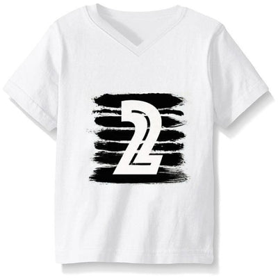 Numbered Pattern Birthday Unisex T-shirt - White 2 1