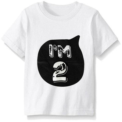 Numbered Pattern Birthday Unisex T-shirt - White 2