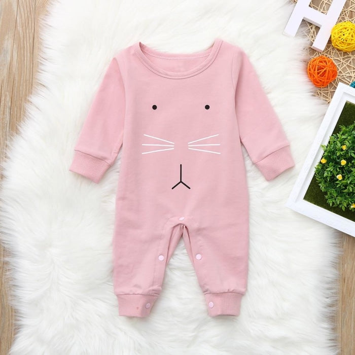 Off Pink Princess Romper for Baby Girl