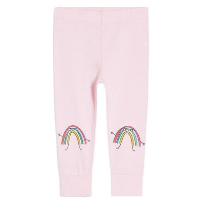 Pants Or Leggings with Cute Animal Applique For Girls - Baby Pink / 2-3 years