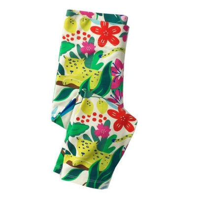 Pants Or Leggings with Cute Animal Applique For Girls - Green 1 / 2-3 years