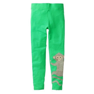 Pants Or Leggings with Cute Animal Applique For Girls - Green / 2-3 years