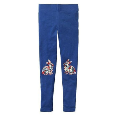 Pants Or Leggings with Cute Animal Applique For Girls - Indigo Blue / 2-3 years