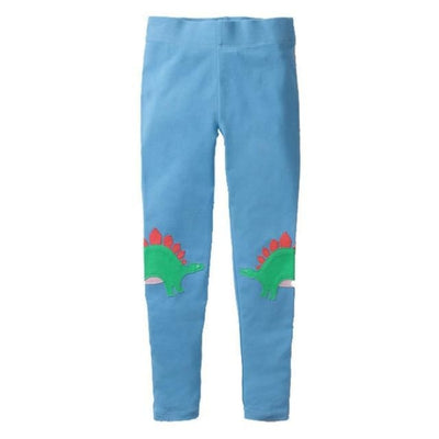 Pants Or Leggings with Cute Animal Applique For Girls - Light Blue / 2-3 years