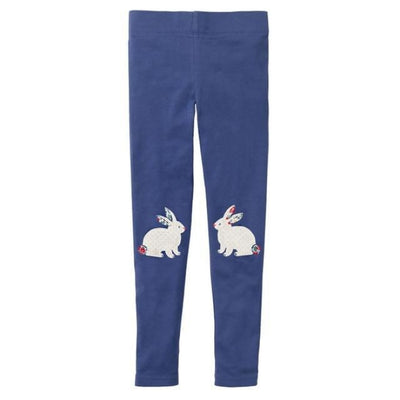 Pants Or Leggings with Cute Animal Applique For Girls - MidNight Blue / 2-3 years