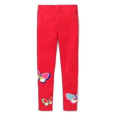 Pants Or Leggings with Cute Animal Applique For Girls - Red 2 / 2-3 years