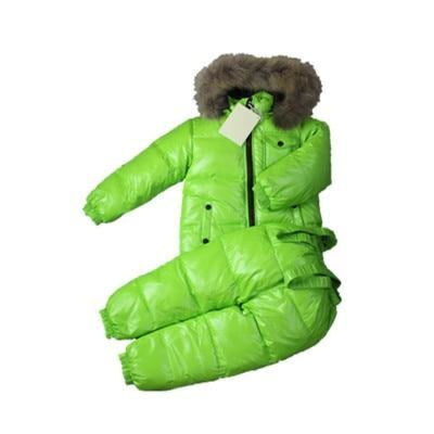 Plain Parka jackets Unisex snowwear coat - Green / 4-5 years