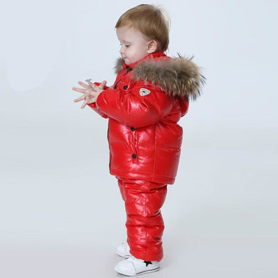 Plain Parka jackets Unisex snowwear coat - red / 4-5 years