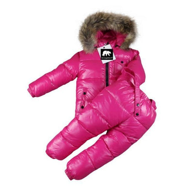 Plain Parka jackets Unisex snowwear coat - rose / 4-5 years