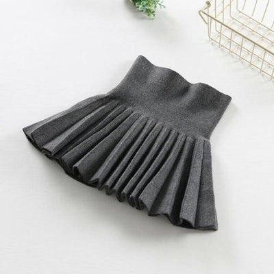 Pleated Wool Blend Skirt for Girls - Gray / 18-24 months