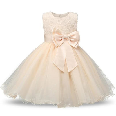 Polka Dot Costume Party Dress for Girls - Beige / 3-4 years