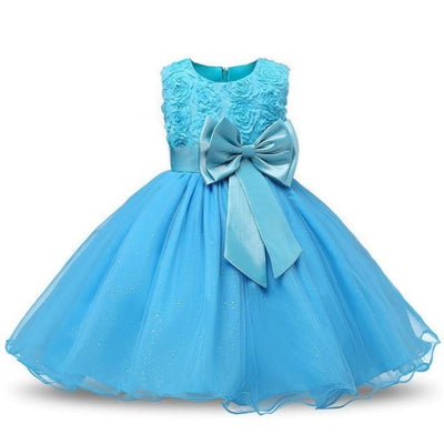 Polka Dot Costume Party Dress for Girls - Blue / 3-4 years