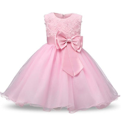 Polka Dot Costume Party Dress for Girls - Pink 2 / 3-4 years