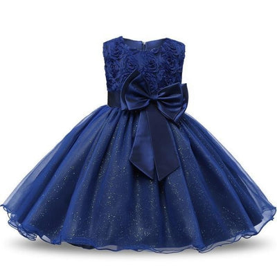 Polka Dot Costume Party Dress for Girls - Violet / 3-4 years