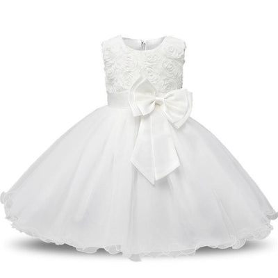 Polka Dot Costume Party Dress for Girls - White / 3-4 years