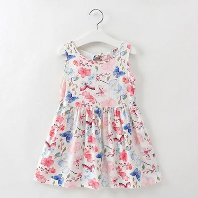 Ready for Summer Floral Print Cotton Dresses For Girls