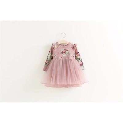 Regular Pretty Floral dress for Girls - pink / 4-5 years