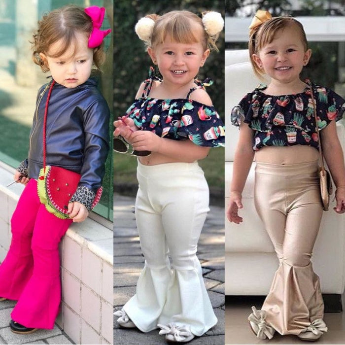 Retro Bell Bottom Pants For Girls