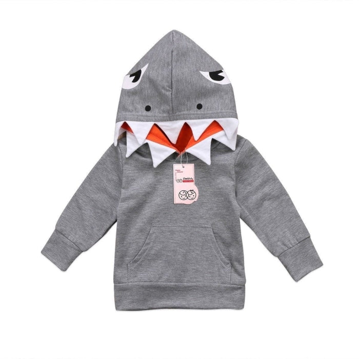 Shark Pattern Unisex Hooded Jacket for Kids