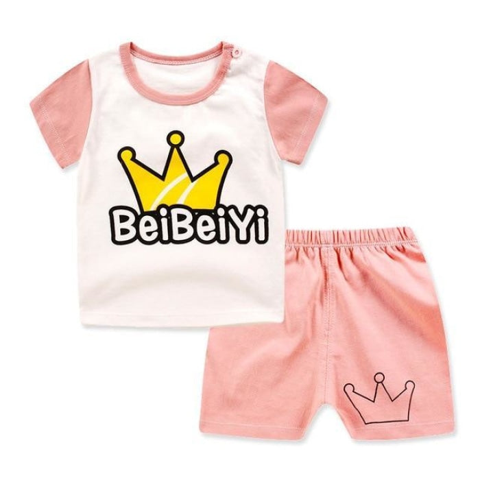 Short sleeve Summer clothing set for Baby Boys and Girls