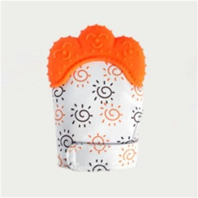 Silicone Mitten Teether with Cute Print Pattern for 3-18 months Babies - Style 1 / 13-18 months