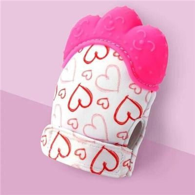 Silicone Mitten Teether with Cute Print Pattern for 3-18 months Babies - Style6 / 13-18 months
