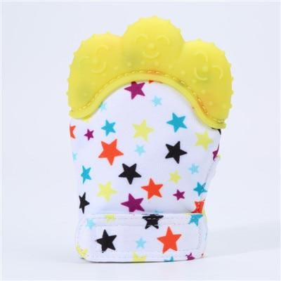 Silicone Mitten Teether with Cute Print Pattern for 3-18 months Babies - Style7 / 13-18 months