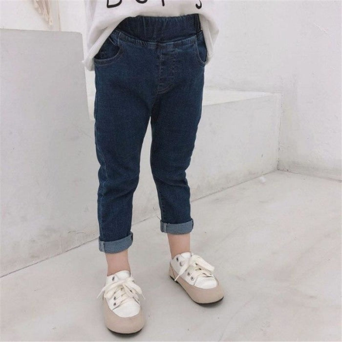 Skinny Fit Boys Denim Pants with Elastic Waist