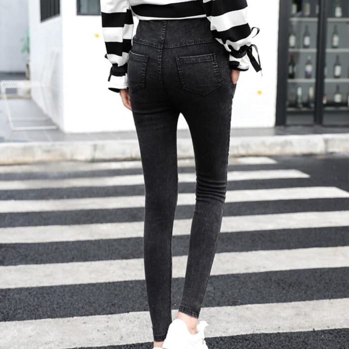 Skinny Maternity Jeans with Over the Pants Elastic