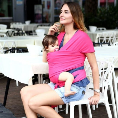 Soft and Comfortable Wrap Carrier for Baby - Dark Pink