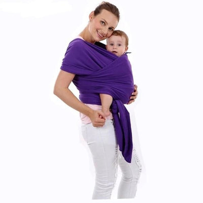Soft and Comfortable Wrap Carrier for Baby - Purple