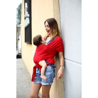 Soft and Comfortable Wrap Carrier for Baby - Red