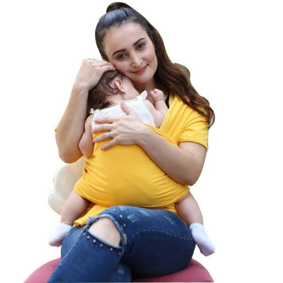 Soft and Comfortable Wrap Carrier for Baby - Yellow