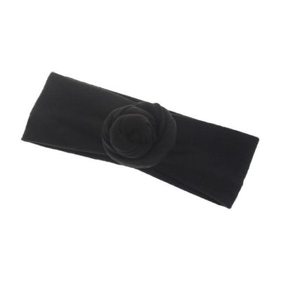 Soft cotton infant newborn Headband - Black
