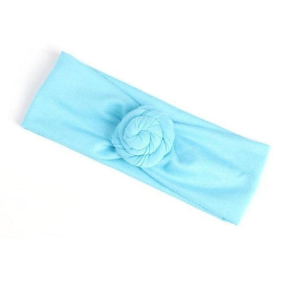 Soft cotton infant newborn Headband - Blue