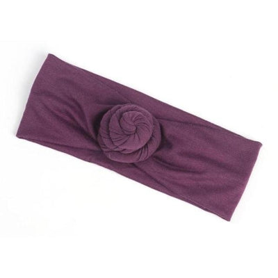 Soft cotton infant newborn Headband - Violet