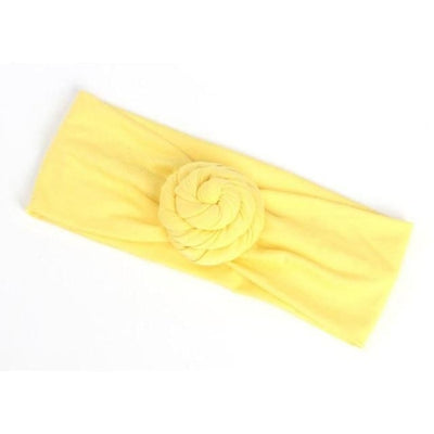 Soft cotton infant newborn Headband - Yellow
