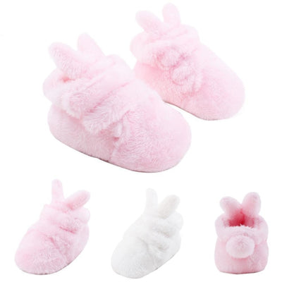 Soft-sole Plush First Walker Slip-on Shoes for Baby Girls