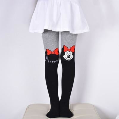 Solid Cartoon Character Design Pantyhose Tights - Black 2 / 1-3 years