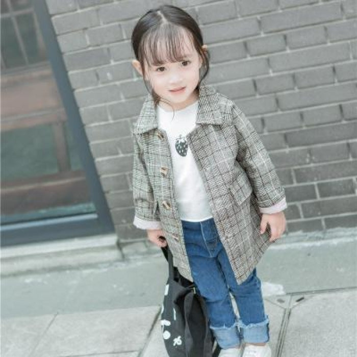 Splendid Plaid Jacket Suit set for Girls