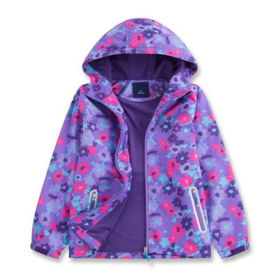 Sporty Colourful Casual Hoodie for Girls - Purple / 9-10 years