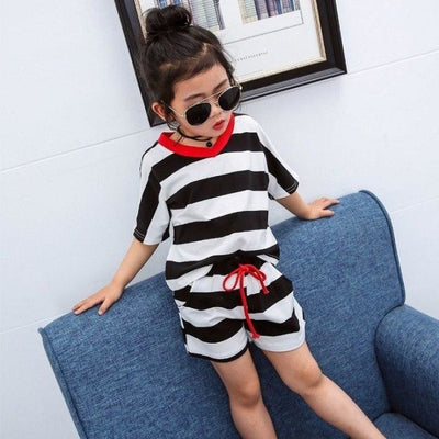 Striped Hoodies set for Boys - Black / 18-24 months